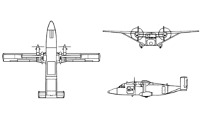 Orthographic projection of the C-23A